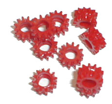 Gemini Taurus Red Gear Grommets (pair)