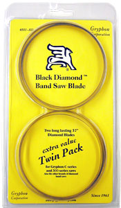 Gryphon C-40 Black Diamond™ Band Saw Blades - Twin Pack