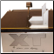 Revolution XT with optional slide tray and 45-degree angel brackets set for bevel cuting
